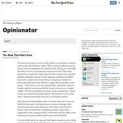 DRAFT - Opinionator
