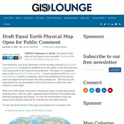 Draft Equal Earth Physical Map Open for Public Comment