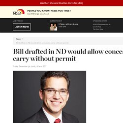 Bill drafted in ND would allow concealed carry without permit