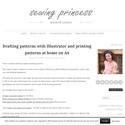 Drafting patterns with Illustrator and printing patterns at home on A4 -