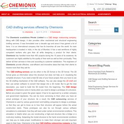 CAD drafting services offered by Chemionix