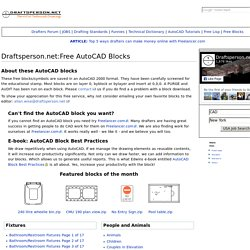Free AutoCAD Blocks - Draftsperson.net