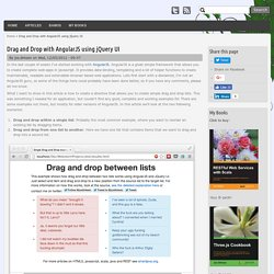 Drag and Drop with AngularJS using jQuery UI