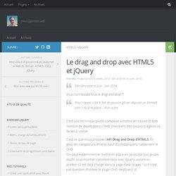 Le drag and drop avec HTML5 et jQuery - chez Syl