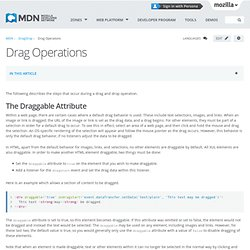 Drag Operations - MDC
