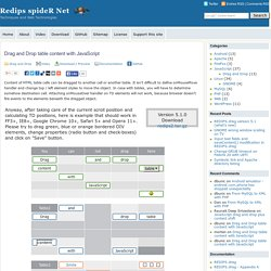 Jquery dnd position pearltrees for Javascript table insertcell th
