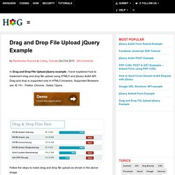 Drag and Drop File Upload jQuery Example