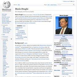 Mario Draghi - current president ECB
