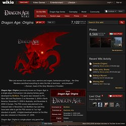 DragonAge Wikia