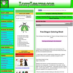 Dragon Coloring Sheets, Lucy Learns Free Dragon Coloring Sheet Collection