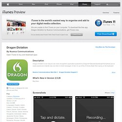 Dragon Dictation