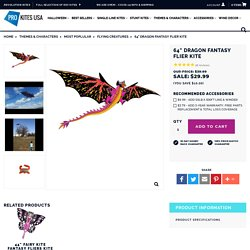 """64"""" Dragon Fantasy Flier Kite - Pro Kites USA"""