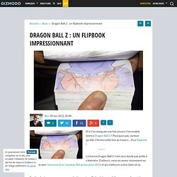Dragon Ball Z : un flipbook impressionnant