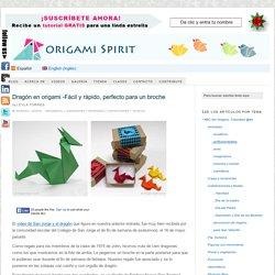 Dragón en origami -Fácil y rápido dragón de papel