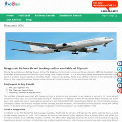 Dragonair Flights: Book Cheap Tickets & Reservations on Flycoair.com