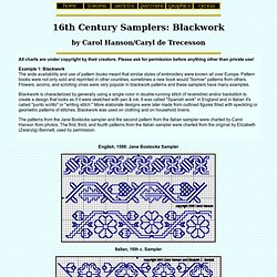 16th century Samplers: Blackwork