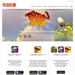 DRAGONBOX ALGEBRA : jeux sérieux pour apprendre l'algèbre