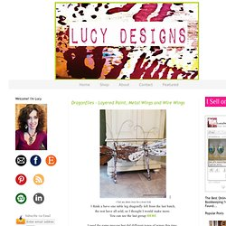 Lucy Designs: More Table Leg Dragonflies