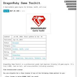 DragonRuby Game Toolkit by DragonRuby
