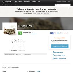 Dragonwell Tea by Teavana