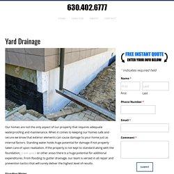 Yard Drainage, Wet Basement Repair, Dupage County, IL