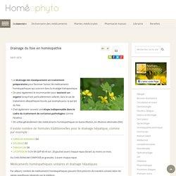 Drainage du foie en homéopathie