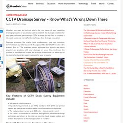 CCTV Drainage Survey – Know What's Wrong Down There
