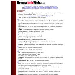 Drama InfoWeb - Glossary