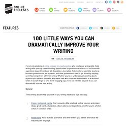 100 Little Ways You Can Dramatically Improve Your Writing | Onli