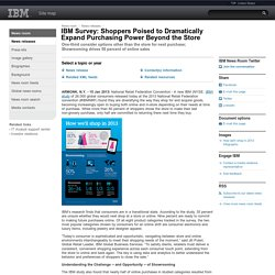 2013-01-15 IBM Survey: Shoppers Poised to Dramatically Expand Purchasing Power Beyond the Store