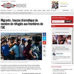Migrants: hausse dramatique du nombre de réfugiés aux frontières de l'UE