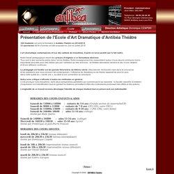 Cours - Theatre Antibea