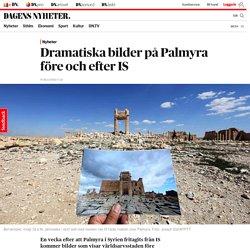 Dramatiska bilder på Palmyra före och efter IS