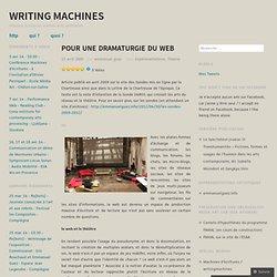 Pour une dramaturgie du web