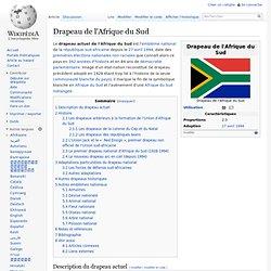 Drapeaux de l'Afrique du Sud historique