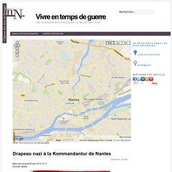 Drapeau nazi à la Kommandantur de Nantes