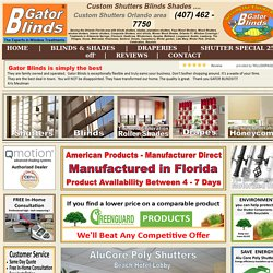 Drapery Orlando - Gator Blinds® # 1 offers Drapery Showroom