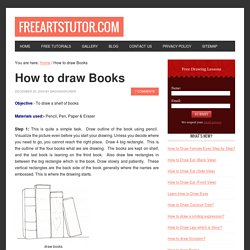 How To Draw Books In Shelf Which Can Be Read
