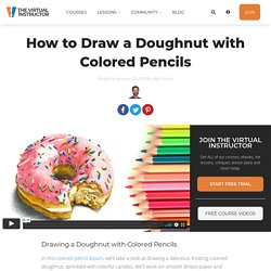 How to Draw a Doughnut with Colored Pencils