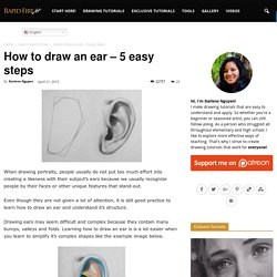 How to draw an ear – 5 easy steps