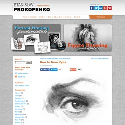 How to Draw Eyes | Stan Prokopenkos Blog - StumbleUpon