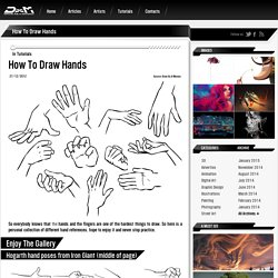 How To Draw Hands - Tutorials - Draw As A Maniac