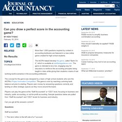 Can you draw a perfect score in the accounting game?