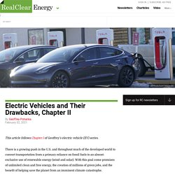 Electric Vehicles and Their Drawbacks, Chapter II