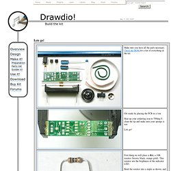 Drawdio kit - Soldering the kit