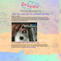 DRAWDIO - draw music with a pencil, or a kitchen sink, or a banana, or...