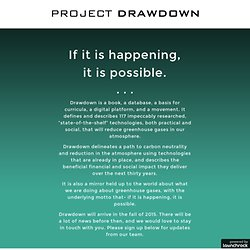PROJECT DRAWDOWN - If it is happening, it is possible.