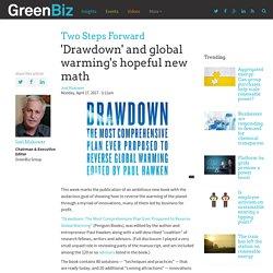 'Drawdown' and global warming's hopeful new math