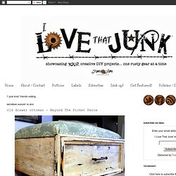 I Love That Junk: Old drawer ottoman - Beyond The Picket Fence