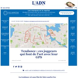 GPS drawing : avec les applications, les coureurs font de l'art en courant